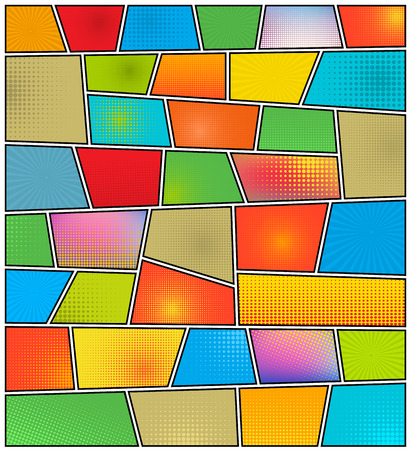 portadas de libros: Tebeos vector de concepto creativo abstracto estilo del arte pop plantilla de diseño en blanco con las nubes vigas y el modelo de puntos aislados en el fondo.