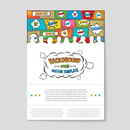 comic: El concepto de fondo vector abstracto creativo para Web y aplicaciones móviles, diseño de la plantilla ilustración, infografía negocio, página, folleto, bandera, presentación, cartel, portada, folleto, documento. Vectores
