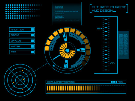 dashboard: Abstract future, concept vector futuristic blue virtual graphic touch user interface HUD. For web, site, mobile applications isolated on black background, techno, online design, business, gui, ui.