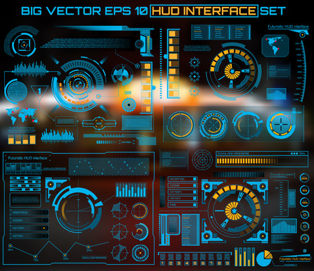 tech: Abstract future, concept vector futuristic blue virtual graphic touch user interface HUD. For web, site, mobile applications isolated on black background, techno, online design, business, gui, ui.