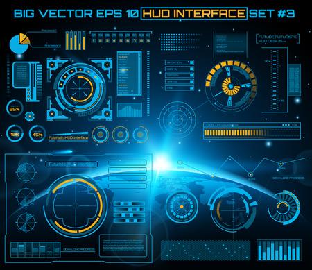 Résumé avenir, interface utilisateur tactile concept de vecteur futuriste bleue virtuelle graphique HUD. Pour le web, site, applications mobiles isolées sur fond noir, la techno, la conception en ligne, affaires, gui, ui.