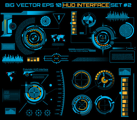 Abstract future, concept vector futuristic blue virtual graphic touch user interface HUD. For web, site, mobile applications isolated on black background, techno, online design, business, gui, ui.