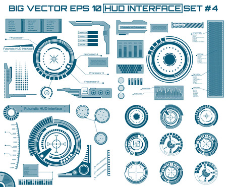 raumschiff: Abstrakt Zukunft Konzept Vektor futuristischen blauen virtuellen grafischen Touch Benutzeroberfläche HUD. Für das Web, Website, mobile Anwendungen auf schwarzem Hintergrund isoliert, techno, Online-Design, Business, gui, ui.