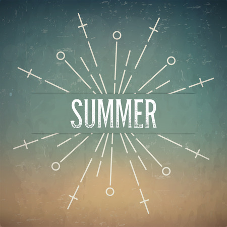 rubberstamp: Abstract Creative concept vector design layout with text - summer. For web and mobile icon isolated on background, art template, retro elements, logo, identity, labels, badge, ink, tag, card.