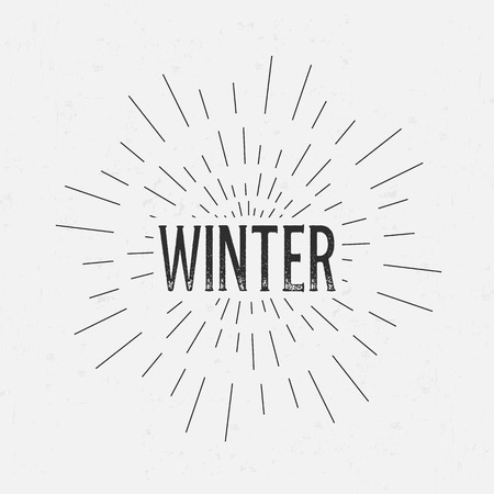 rubberstamp: Abstract Creative concept vector design layout with text - winter. For web and mobile icon isolated on background, art template, retro elements, logo, identity, labels, badge, ink, tag, card.