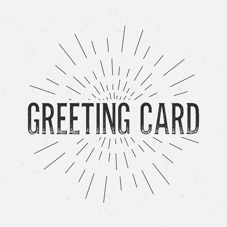 rubberstamp: Abstract Creative concept vector design layout with text - greeting card. For web and mobile icon isolated on background, art template, retro elements, logo, identity, labels, badge, ink, tag, card.