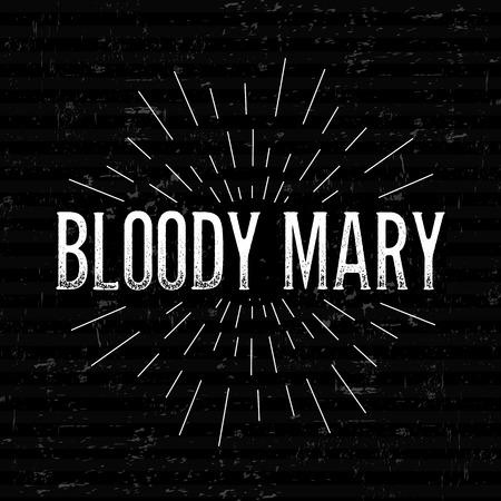 margarita cocktail: vector concepto resumen de diseño creativo diseño con el texto - Bloody Mary. Para la web y el icono móvil aislado en el fondo, modelo arte, elementos retro, logotipos, identidad, etiqueta, insignia, tinta, etiqueta, tarjeta de edad. Vectores