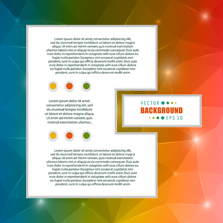color page: Abstract Creative concept vector booklet list for Web and Mobile Applications, art template design, business infographic card, color page, brochure leaf, cool banner, book, poster, cover, event flyer.