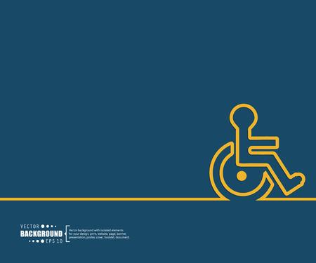 discapacidad: El concepto de fondo vector abstracto creativo para Web y aplicaciones móviles, diseño de la plantilla ilustración, infografía negocio, página, folleto, bandera, presentación, cartel, portada, folleto, documento. Vectores