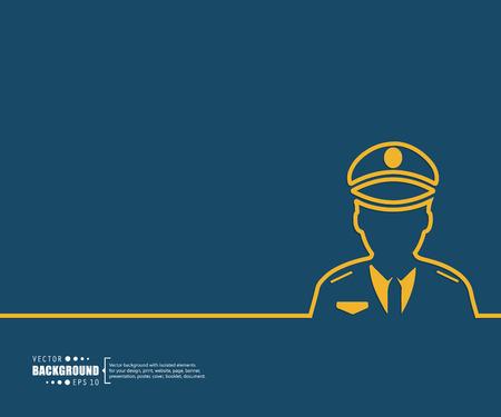 policier: Résumé Creative fond concept de vecteur pour le Web et les applications mobiles, modèle de conception Illustration, infographie d'affaires, page, brochure, bannière, présentation, affiche, couverture, livret, document. Illustration