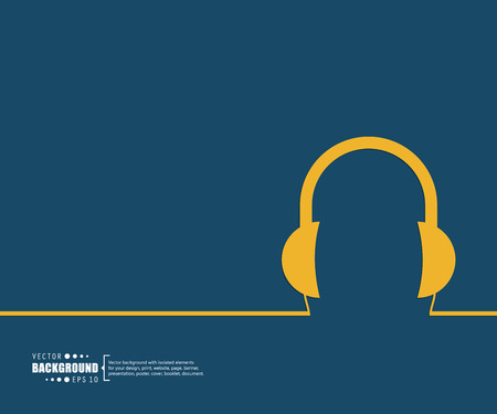 headphones: Abstract Creative concept vector background for Web and Mobile Applications, Illustration template design, business infographic, page, brochure, banner, presentation, poster, cover, booklet, document.