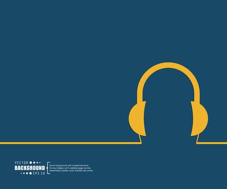audifonos: El concepto de fondo vector abstracto creativo para Web y aplicaciones móviles, diseño de la plantilla ilustración, infografía negocio, página, folleto, bandera, presentación, cartel, portada, folleto, documento. Vectores
