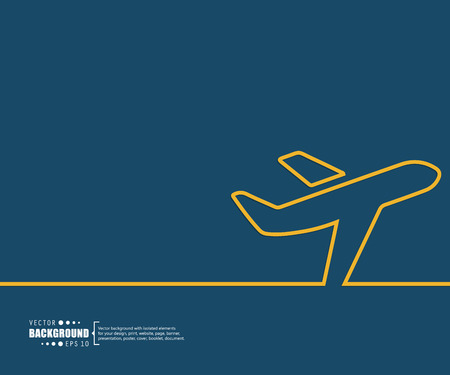 aeroplane: Abstract Creative concept vector background for Web and Mobile Applications, Illustration template design, business infographic, page, brochure, banner, presentation, poster, cover, booklet, document.