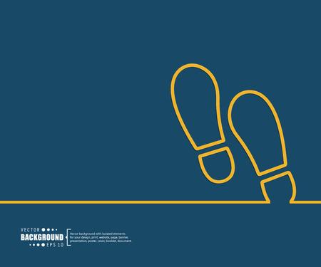 huella pie: El concepto de fondo vector abstracto creativo para Web y aplicaciones móviles, diseño de la plantilla ilustración, infografía negocio, página, folleto, bandera, presentación, cartel, portada, folleto, documento. Vectores