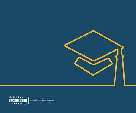 diploma: El concepto de fondo vector abstracto creativo para Web y aplicaciones m�viles, dise�o de la plantilla ilustraci�n, infograf�a negocio, p�gina, folleto, bandera, presentaci�n, cartel, portada, folleto, documento. Vectores