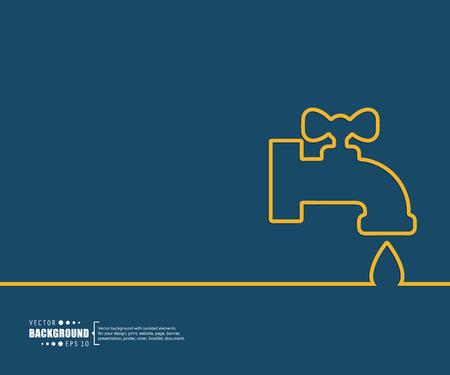fontaneria: El concepto de fondo vector abstracto creativo para Web y aplicaciones móviles, diseño de la plantilla ilustración, infografía negocio, página, folleto, bandera, presentación, cartel, portada, folleto, documento. Vectores