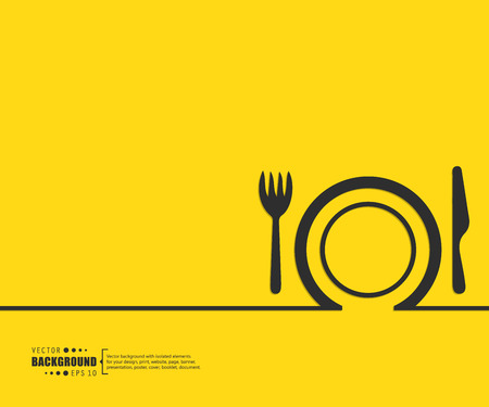 lunch meal: Abstract Creative concept vector background for Web and Mobile Applications, Illustration template design, business infographic, page, brochure, banner, presentation, poster, cover, booklet, document.