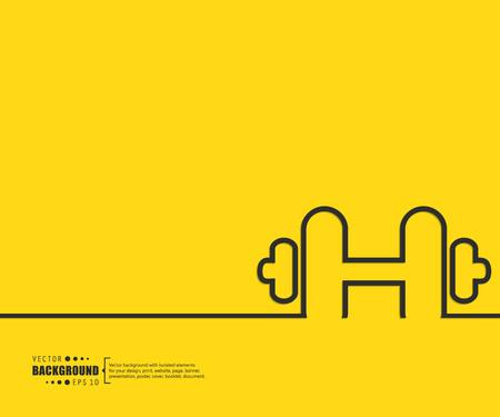 salud y deporte: El concepto de fondo vector abstracto creativo para Web y aplicaciones m�viles, dise�o de la plantilla ilustraci�n, infograf�a negocio, p�gina, folleto, bandera, presentaci�n, cartel, portada, folleto, documento. Vectores