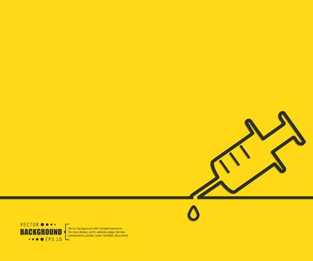 vacuna: El concepto de fondo vector abstracto creativo para Web y aplicaciones m�viles, dise�o de la plantilla ilustraci�n, infograf�a negocio, p�gina, folleto, bandera, presentaci�n, cartel, portada, folleto, documento. Vectores