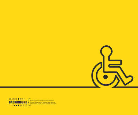 wheel chair: Abstract Creative concept vector background for Web and Mobile Applications, Illustration template design, business infographic, page, brochure, banner, presentation, poster, cover, booklet, document.