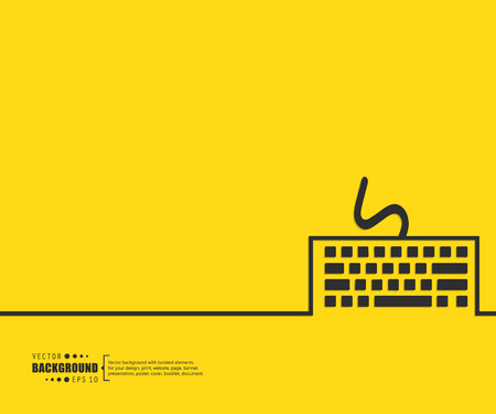 computer keyboard: Abstract Creative concept vector background for Web and Mobile Applications, Illustration template design, business infographic, page, brochure, banner, presentation, poster, cover, booklet, document.