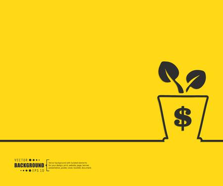 crecimiento: El concepto de fondo vector abstracto creativo para Web y aplicaciones móviles, diseño de la plantilla ilustración, infografía negocio, página, folleto, bandera, presentación, cartel, portada, folleto, documento. Vectores