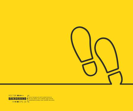 huellas: El concepto de fondo vector abstracto creativo para Web y aplicaciones móviles, diseño de la plantilla ilustración, infografía negocio, página, folleto, bandera, presentación, cartel, portada, folleto, documento. Vectores