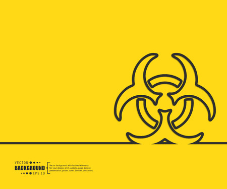 infectious waste: Abstract Creative concept vector background for Web and Mobile Applications, Illustration template design, business infographic, page, brochure, banner, presentation, poster, cover, booklet, document.