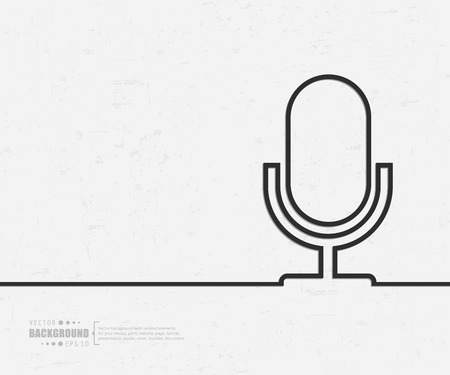 microphone: Abstract creative concept background for web and mobile applications