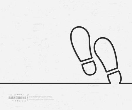 huella pie: Fondo de concepto creativo abstracto Vectores