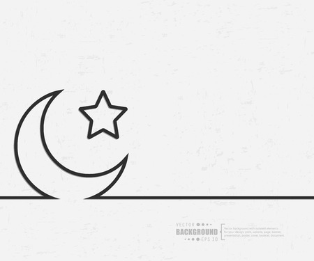 moon and stars: Abstract creative concept background for web and mobile applications