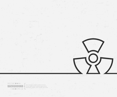hazardous waste: Abstract Creative concept background for Web and Mobile Applications Illustration