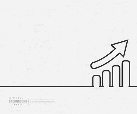 incremento: Concepto del fondo del vector creativo abstracto de web y aplicaciones móviles, diseño de plantilla de ilustración, infografía negocio, página, folleto, bandera, presentación, cartel, portada, folleto, documento. Vectores