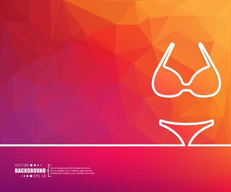 panties: El concepto de fondo vector abstracto creativo para Web y aplicaciones móviles, diseño de la plantilla ilustración, infografía negocio, página, folleto, bandera, presentación, cartel, portada, folleto, documento. Vectores
