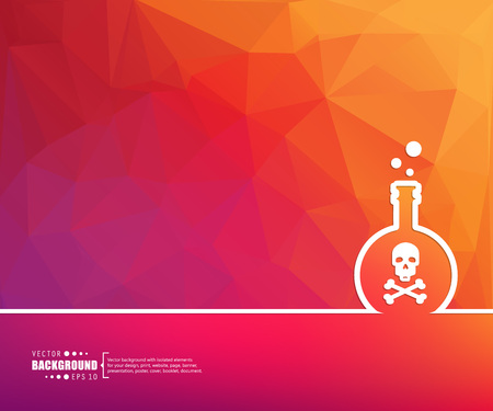 gas mask danger sign: Abstract Creative concept vector background for Web and Mobile Applications, Illustration template design, business infographic, page, brochure, banner, presentation, poster, cover, booklet, document.