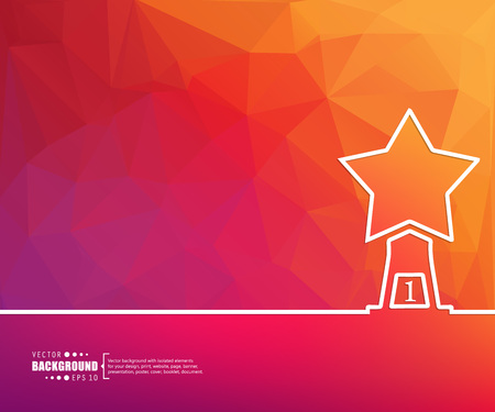 star award: Abstract creative concept vector background for Web and Mobile Applications, Illustration template design, business infographic, page, brochure, banner, presentation, poster, cover, booklet, document.