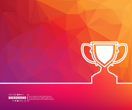 trophy winner: Abstract creative concept vector background for Web and Mobile Applications, Illustration template design, business infographic, page, brochure, banner, presentation, poster, cover, booklet, document.