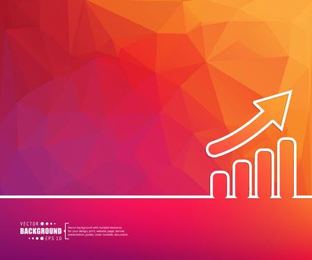 bar charts: Concepto del fondo del vector creativo abstracto de web y aplicaciones móviles, diseño de plantilla de ilustración, infografía negocio, página, folleto, bandera, presentación, cartel, portada, folleto, documento. Vectores