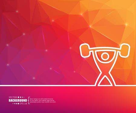 gimnasio: El concepto de fondo vector abstracto creativo para Web y aplicaciones móviles, diseño de la plantilla ilustración, infografía negocio, página, folleto, bandera, presentación, cartel, portada, folleto, documento. Vectores