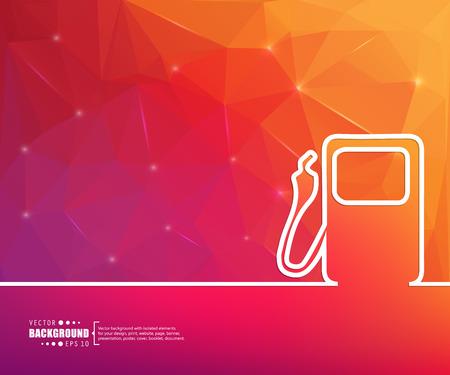 gasolinera: Resumen de antecedentes vector de concepto creativo