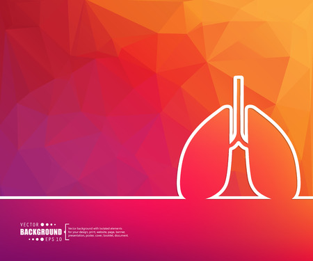 bronchial asthma: Abstract vector background. For web and mobile app, illustration template design, creative business info graphic, brochure, banner, presentation, concept poster, cover, booklet, document, line logo.