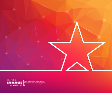 golden star: Abstract Creative concept vector background for Web and Mobile Applications, Illustration template design, business infographic, page, brochure, banner, presentation, poster, cover, booklet, document.