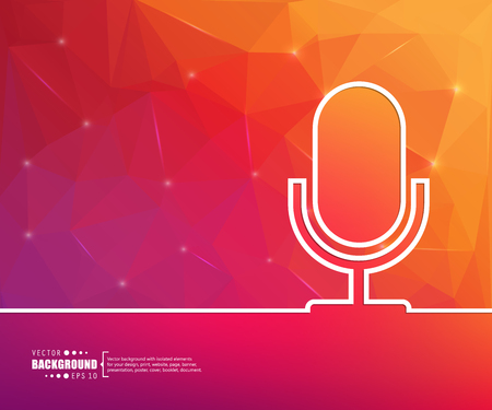microfono de radio: El concepto de fondo vector abstracto creativo para Web y aplicaciones móviles, diseño de la plantilla ilustración, infografía negocio, página, folleto, bandera, presentación, cartel, portada, folleto, documento. Vectores