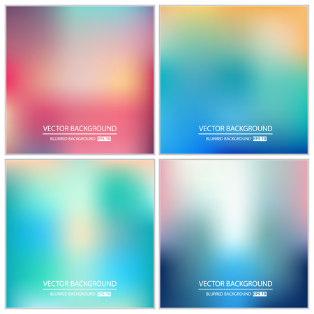 cool off: Abstract Creative concept vector multicolored blurred background set. For Web and Mobile Applications, art illustration template design, business infographic and social media, modern decoration.