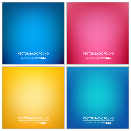 colorful: Abstract Creative concept vector multicolored blurred background set. For Web and Mobile Applications, art illustration template design, business infographic and social media, modern decoration.