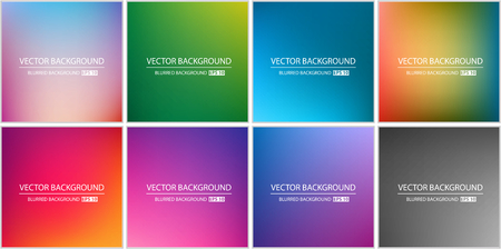 bright colors: Abstract Creative concept vector multicolored blurred background set. For Web and Mobile Applications, art illustration template design, business infographic and social media, modern decoration.