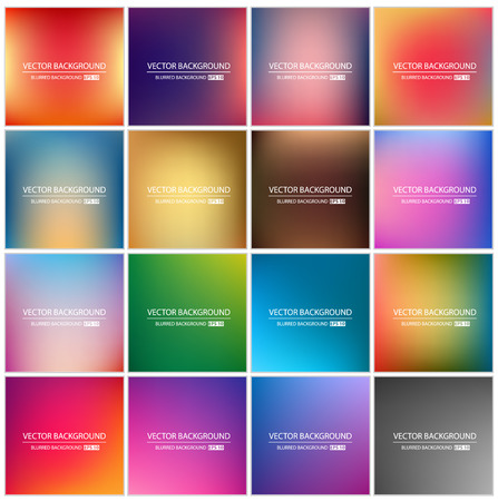 Abstract Creative concept vector multicolored blurred background set. For Web and Mobile Applications, art illustration template design, business infographic and social media, modern decoration.