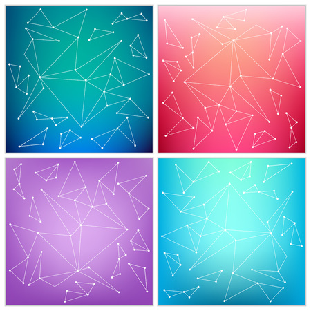 color effect: Abstract Creative concept vector multicolored blurred background set. For Web and Mobile Applications, art illustration template design, business infographic and social media, modern decoration.