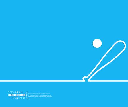 pelota beisbol: El concepto de fondo vector abstracto creativo para Web y aplicaciones móviles, diseño de la plantilla ilustración, infografía negocio, página, folleto, bandera, presentación, cartel, portada, folleto, documento. Vectores