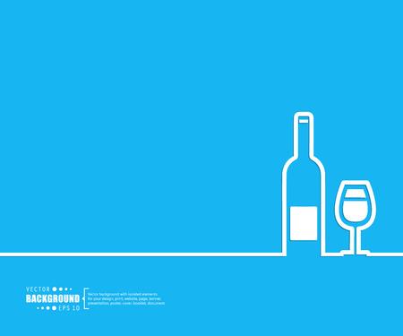 tomando vino: El concepto de fondo vector abstracto creativo para Web y aplicaciones m�viles, dise�o de la plantilla ilustraci�n, infograf�a negocio, p�gina, folleto, bandera, presentaci�n, cartel, portada, folleto, documento. Vectores